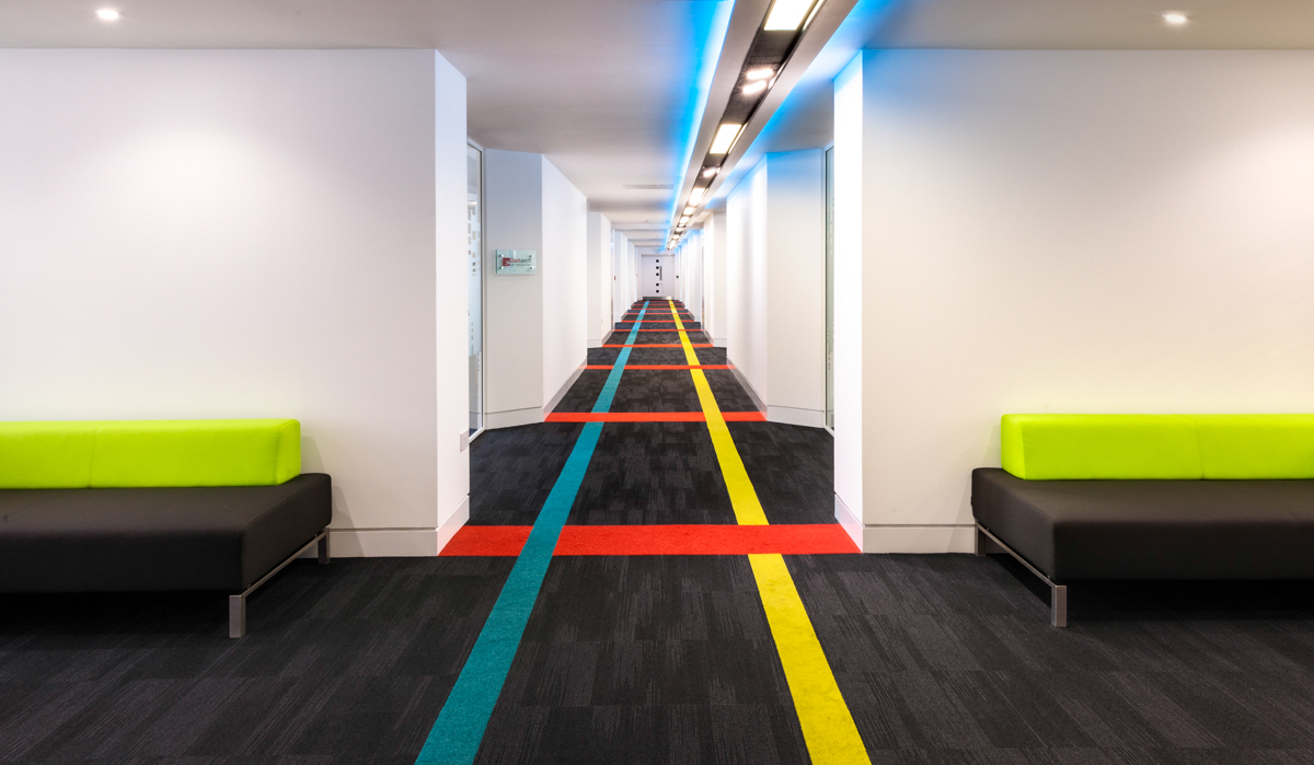 offices coloured carpet 43 castle street liverpool