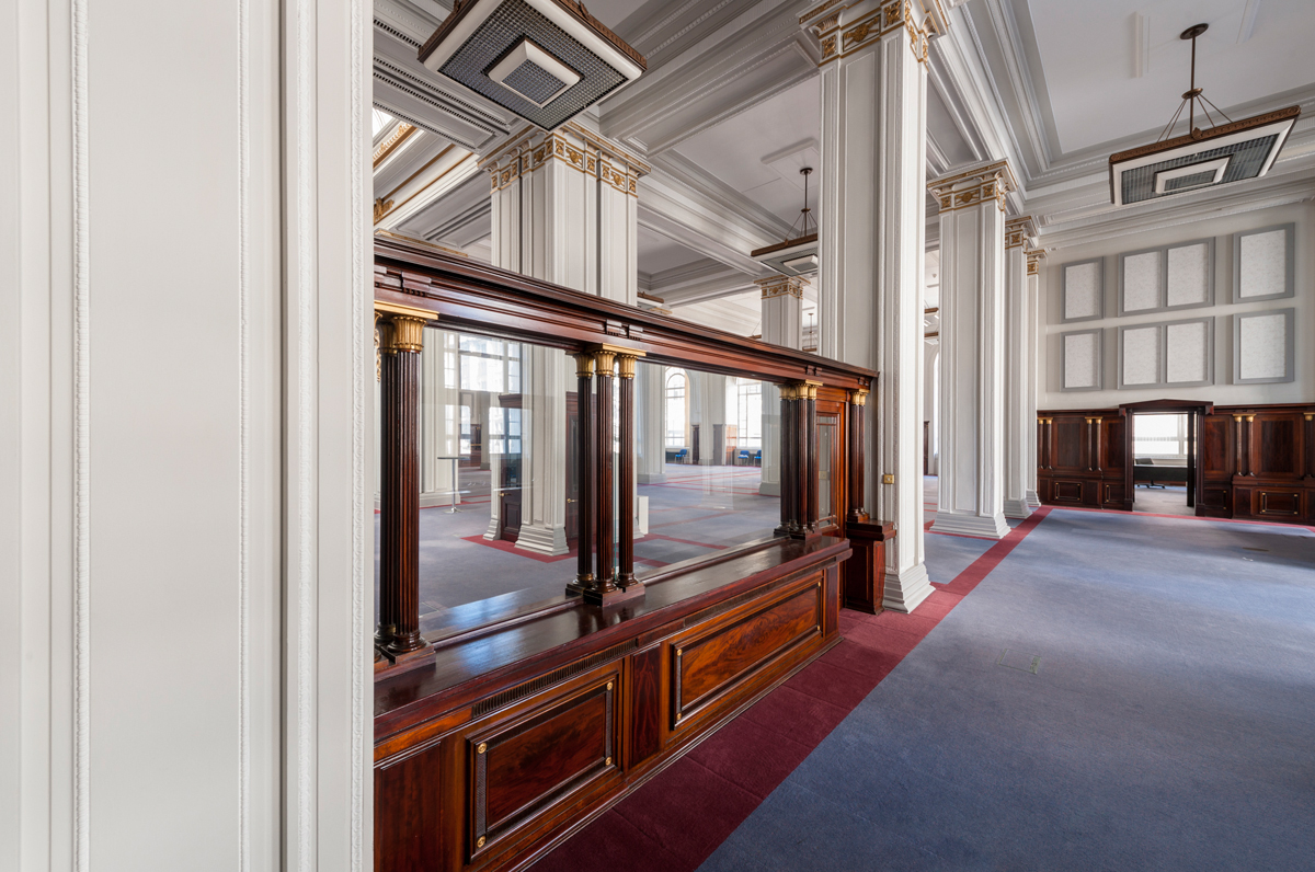 Cunard banking hall ticket office Liverpool